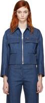Emilio Pucci Blue Front Zip Denim Jacket