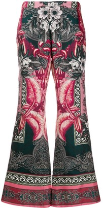 F.R.S For Restless Sleepers Flared Printed Trousers