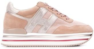 Hogan panelled flatform sneakers