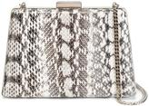 Lanvin Le Petit Sac box clutch - women - Cotton/Watersnake Skin - One Size