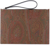 Etro paisley print clutch bag - men - Cotton/Calf Leather/Nylon/PVC - One Size