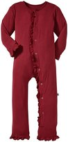 Kickee Pants Ruffle Coverall (Toddler) - Scarlet-4T