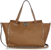 Valentino Rockstud grained-leather tote