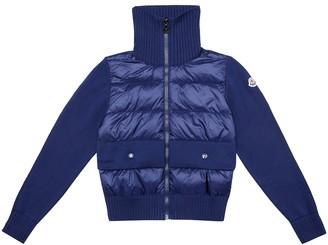 Moncler Enfant Down and cotton jacket