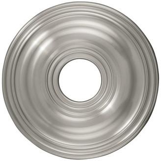 Livex Lighting Ceiling Medallion, Brushed Nickel