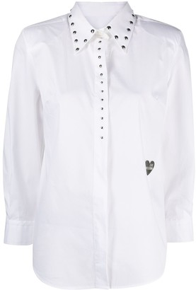 Love Moschino Studded Cropped Sleeve Shirt