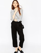 Asos Wool Touch Cropped Peg Pants with D-rings