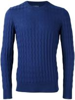 Ballantyne jacquard crew neck jumper - men - Wool - 54