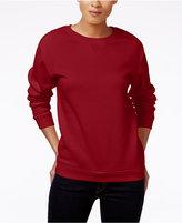 Karen Scott Petite Long-Sleeve Fleece Top, Only at Macy's