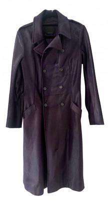 Prada Purple Leather Trench coats