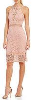Sugar Lips Sugarlips Sleeveless Lace Midi Dress