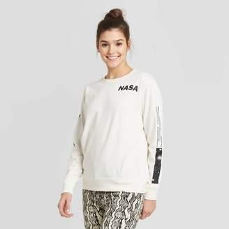 NASA Women's NASA Sweatshirt (Juniors') - Ivory