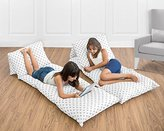 Triangle Print Earth and Sky Collection Kids Teen Floor Pillow Case Lounger Cushion Cover (Pillows Not Included)