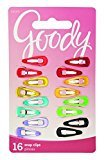 Goody Contour Hair Clips, Girls, Mini, Assorted Colors, 16-Count (1942335)