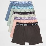 River Island Boys Blue geo waistband boxers multipack
