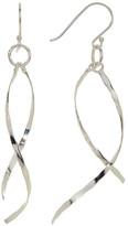 Argentovivo Sterling Silver Twist Drop Earrings