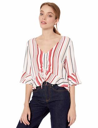 BB Dakota Junior's Summer Lovin' Stripe Printed Rayon top