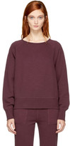 Rag & Bone Burgundy Cropped Classic Sweatshirt