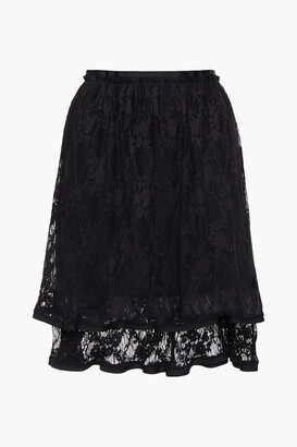 See by Chloe Layered Gathered Lace Skirt