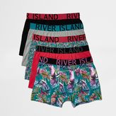 River Island Blue Parrot Print Boxers Multipack