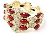 Amrita Singh Ruby Red Crystal Dorcas Stretch Bangle