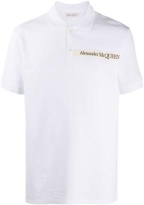 Alexander McQueen Logo-Patch Polo Shirt