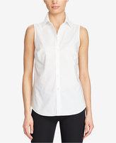 Lauren Ralph Lauren Petite Slim-Fit Cotton Shirt