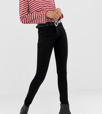 Monki Mocki mid waist jeans with organic cotton in black deluxe
