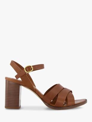Dune Inkey Leather Heeled Sandals, White