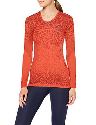 Odlo Women's Bl Top Crew Neck L/S Blackcomb Light Shirt, Womens, 312381,M