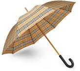 Burberry - Leather-Handle Checked Umbrella