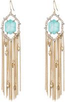 Alexis Bittar Crystal and Stone Tassel Earring