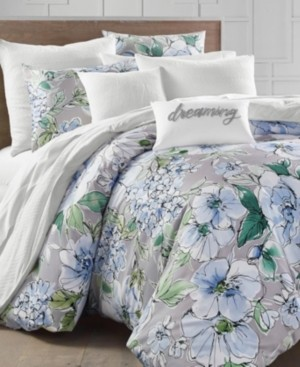 Charter Club Damask Designs Floral Blooms 300-Thread Count King Duvet Set, Created for Macy's Bedding