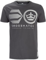 Crosshatch Men's Briscoe Logo T-Shirt - Magnet