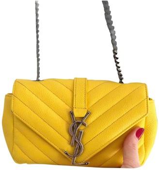 Saint Laurent Baby monogramme Yellow Leather Handbags