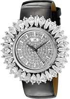 Adee Kaye Women's AK2421-L FIERCE COLLECTION Analog Display Analog Quartz Silver Watch