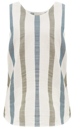 Marrakshi Life - Jacquard-striped Cotton-blend Tank Top - Mens - Cream Multi