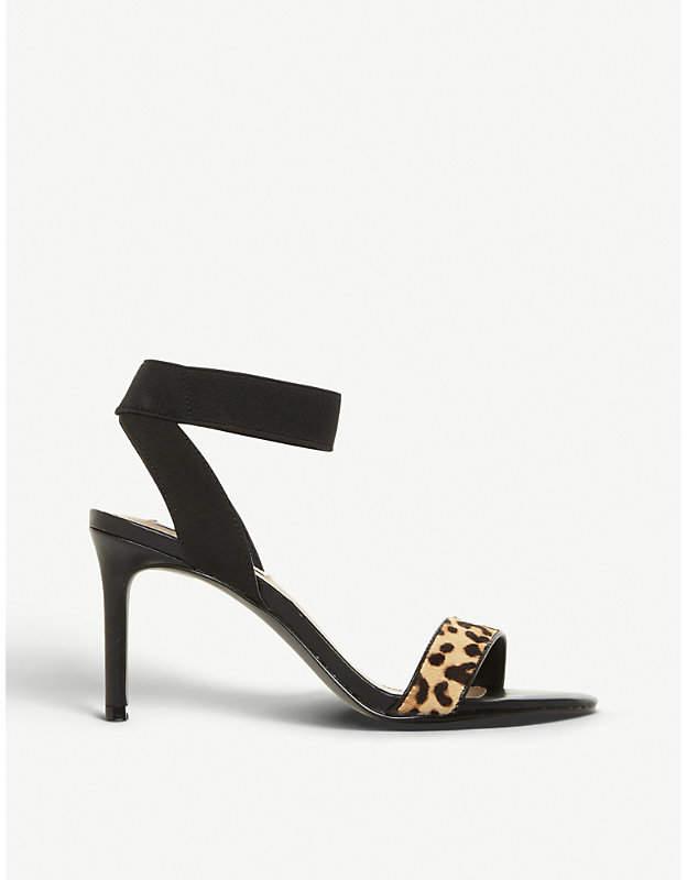 3fbc61c6d67 Fondu leopard-print pony hair sandals