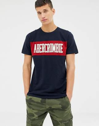 Abercrombie & Fitch chest panel logo t-shirt in navy