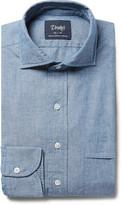 Drake's - Blue Cutaway-collar Cotton-chambray Shirt