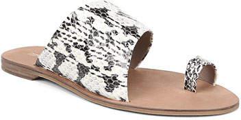 Diane von Furstenberg Brittany Snakeskin Slide Sandals