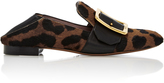 Bally Janelle Leopard-Print Calf Hair Loafers