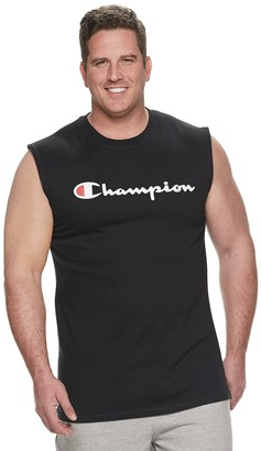 Champion Big & Tall Logo Muscle Tee