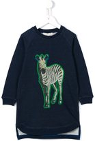 Stella McCartney 'Saphire' zebra print sweatshirt dress