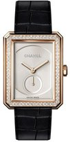 Chanel BOY·FRIEND 18K Beige Gold Watch with Diamonds, Large Size