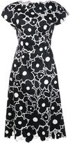 Carolina Herrera floral cap sleeved dress - women - Cotton - 6