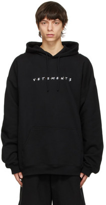 Vetements Black Friendly Logo Hoodie