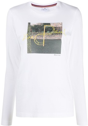 Paul Smith long sleeve printed T-shirt