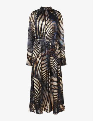 AllSaints Carolina silk-blend midi dress