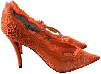 Gucci Orange Cloth Heels